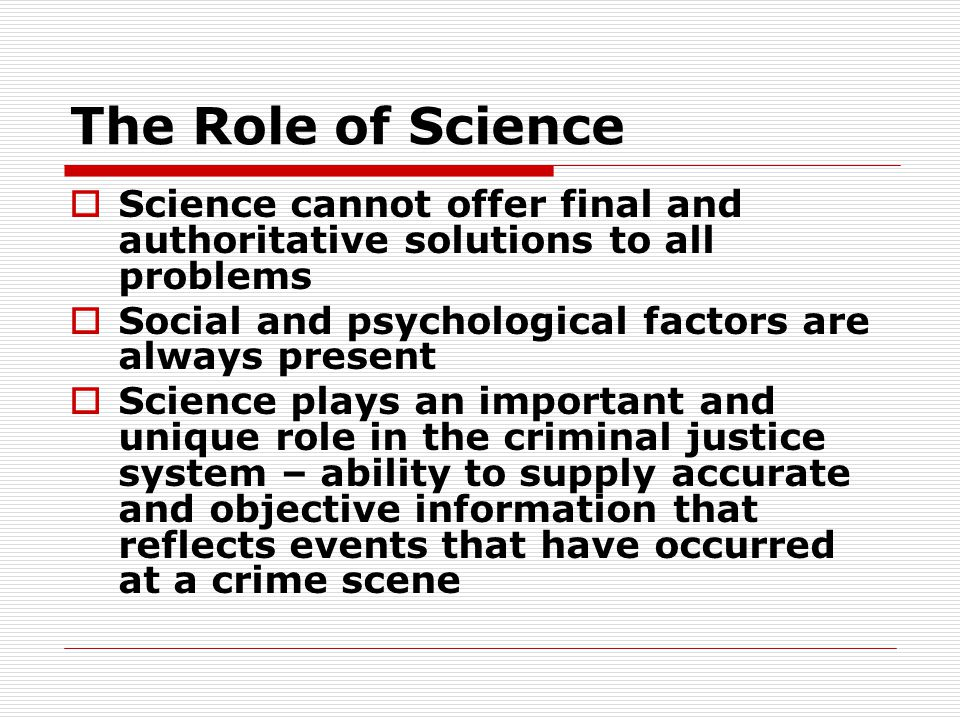 Growth  Several reasons explain the rapid growth of crime labs in the past 40 years Supreme Court decisions requiring scientific, objective treatment of evidence Constitutional rights of suspects (Miranda Rights) Changing judicial requirements due to the staggering increase in crime rates in the USA, especially drug-related crime DNA technology/profiling needs more qualified personnel to analyze the evidence Drug cases still outnumber DNA cases