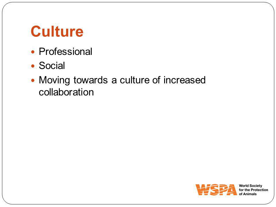 Culture Professional Social Moving towards a culture of increased collaboration