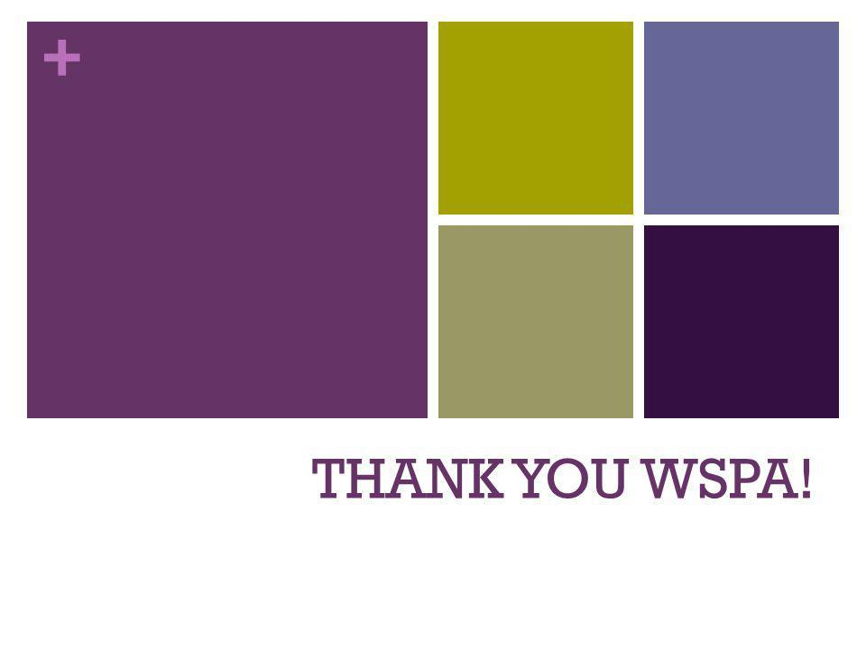 + THANK YOU WSPA!