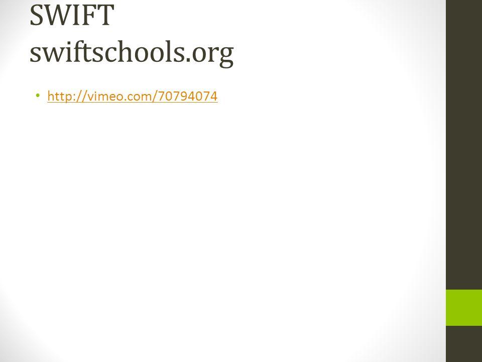 SWIFT swiftschools.org http://vimeo.com/70794074