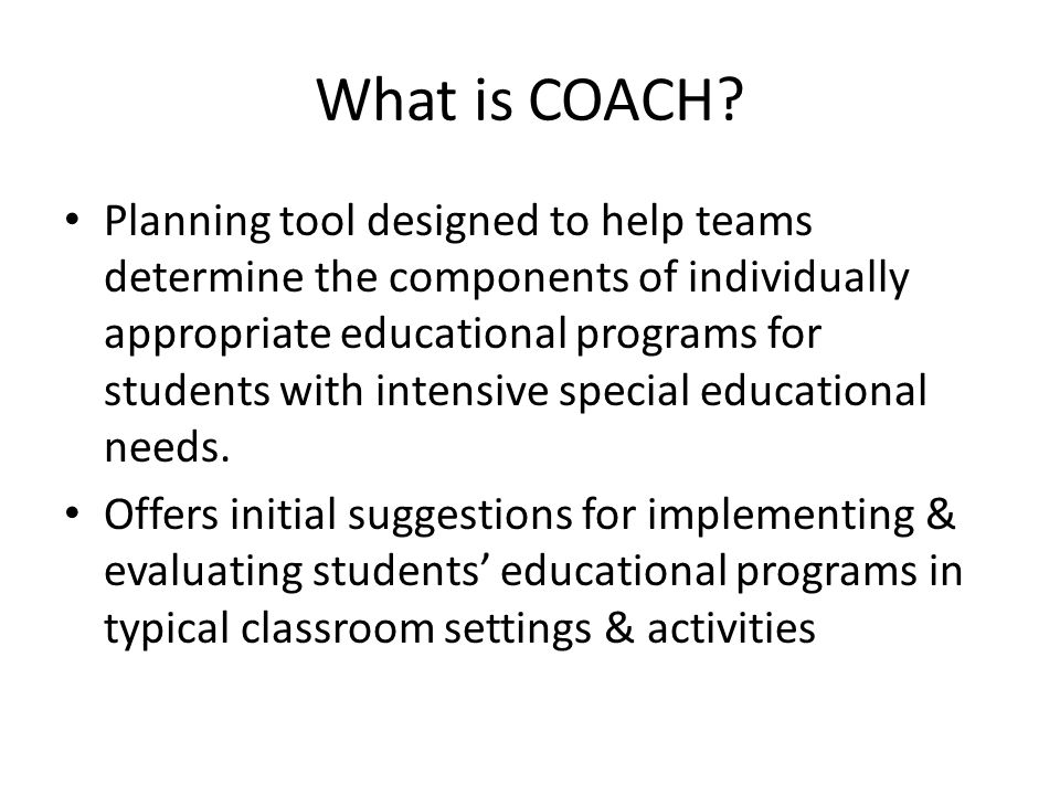What is COACH.