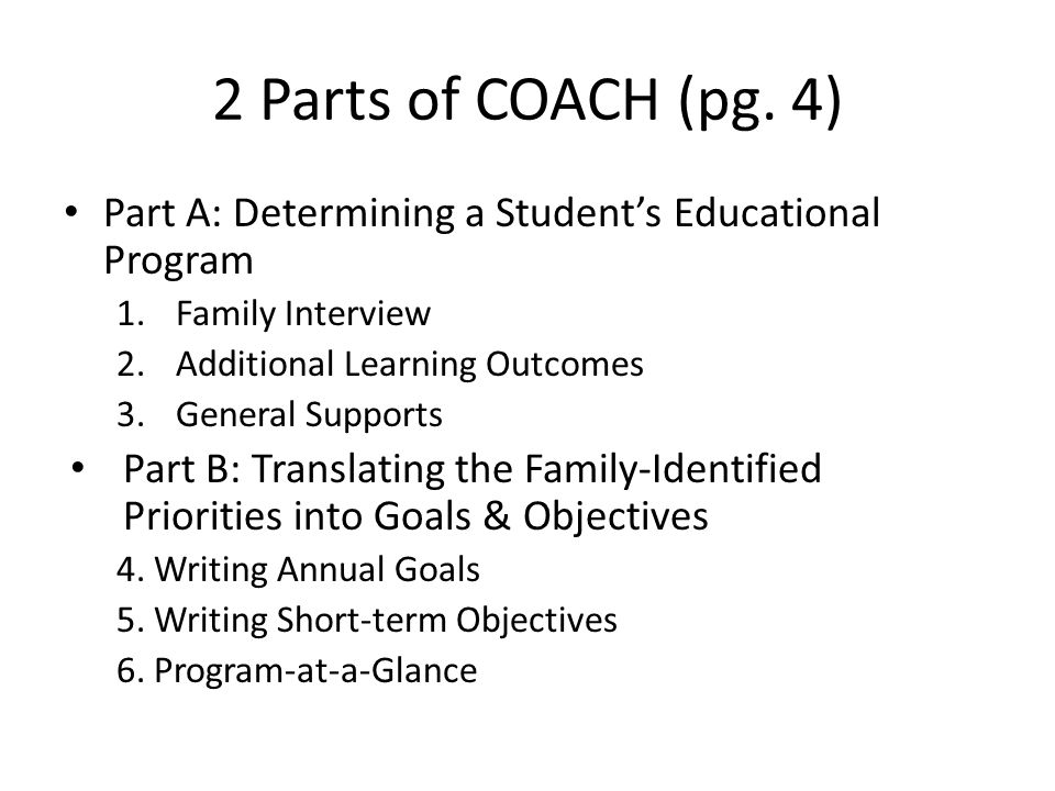 2 Parts of COACH (pg.