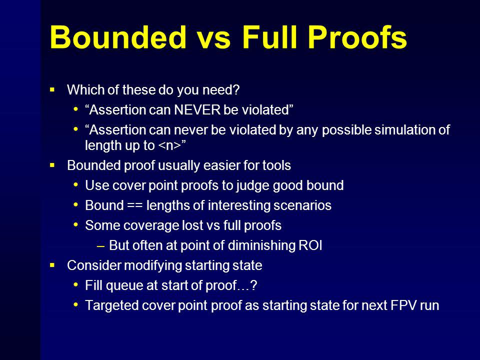 Bounded vs Full Proofs  Which of these do you need.