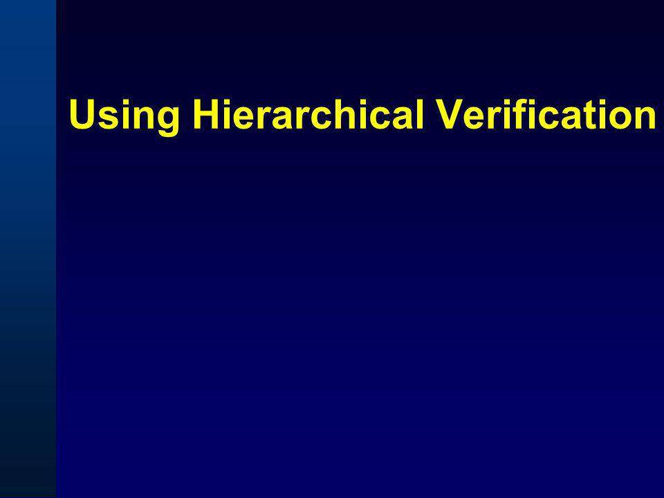 Using Hierarchical Verification