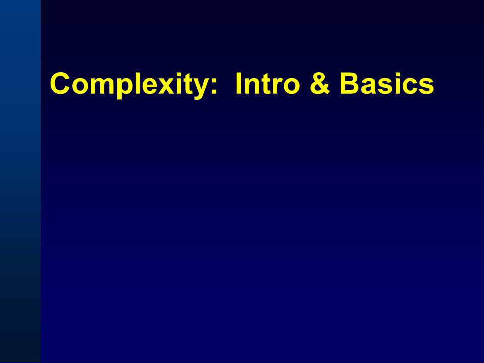 Complexity: Intro & Basics