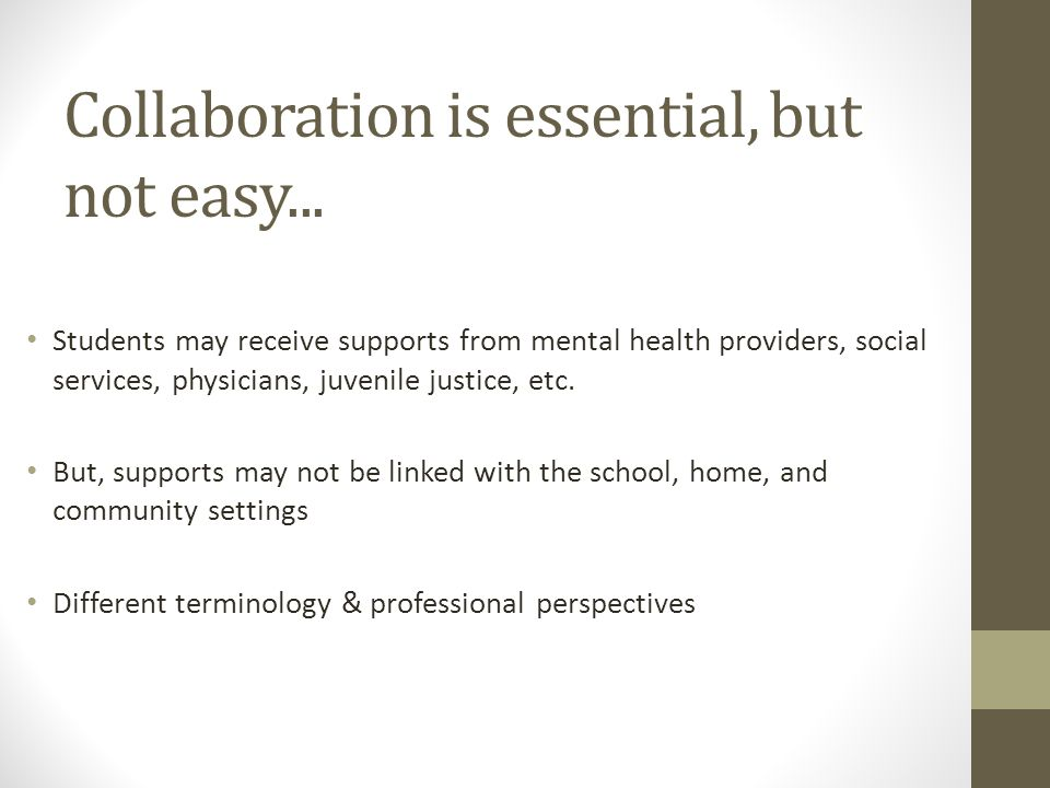 Collaboration is essential, but not easy...