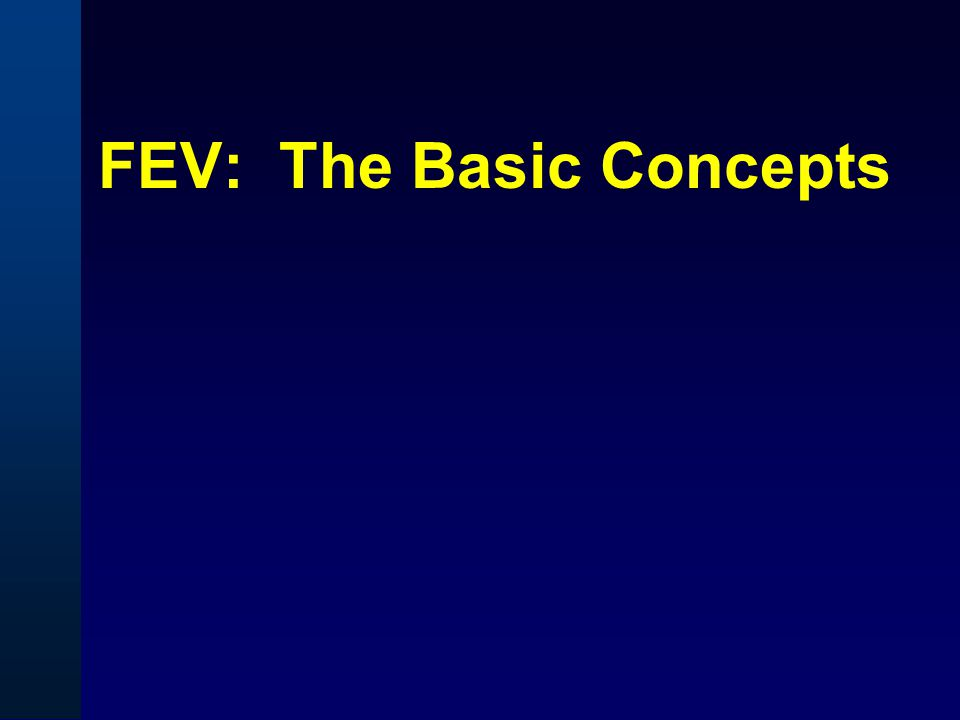 FEV: The Basic Concepts