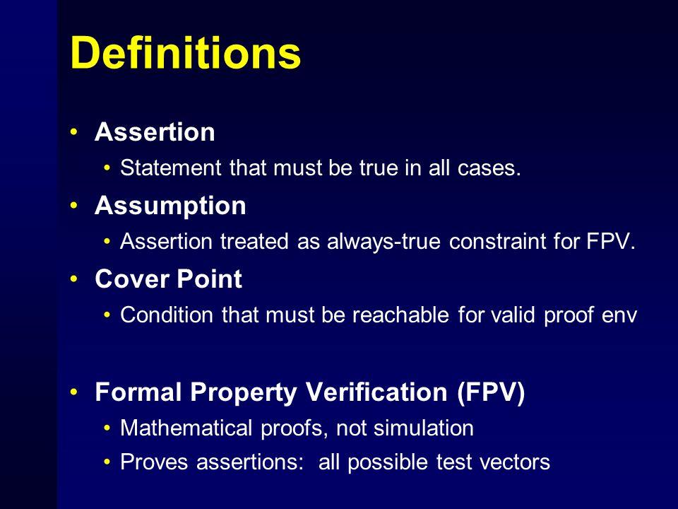 Simulation: spot coverage of design space Motivation for Formal Property Verification