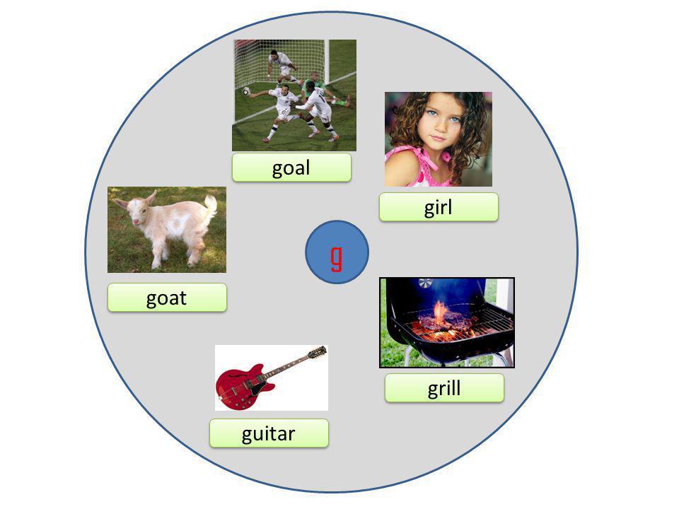 g goal girl guitar goat grill