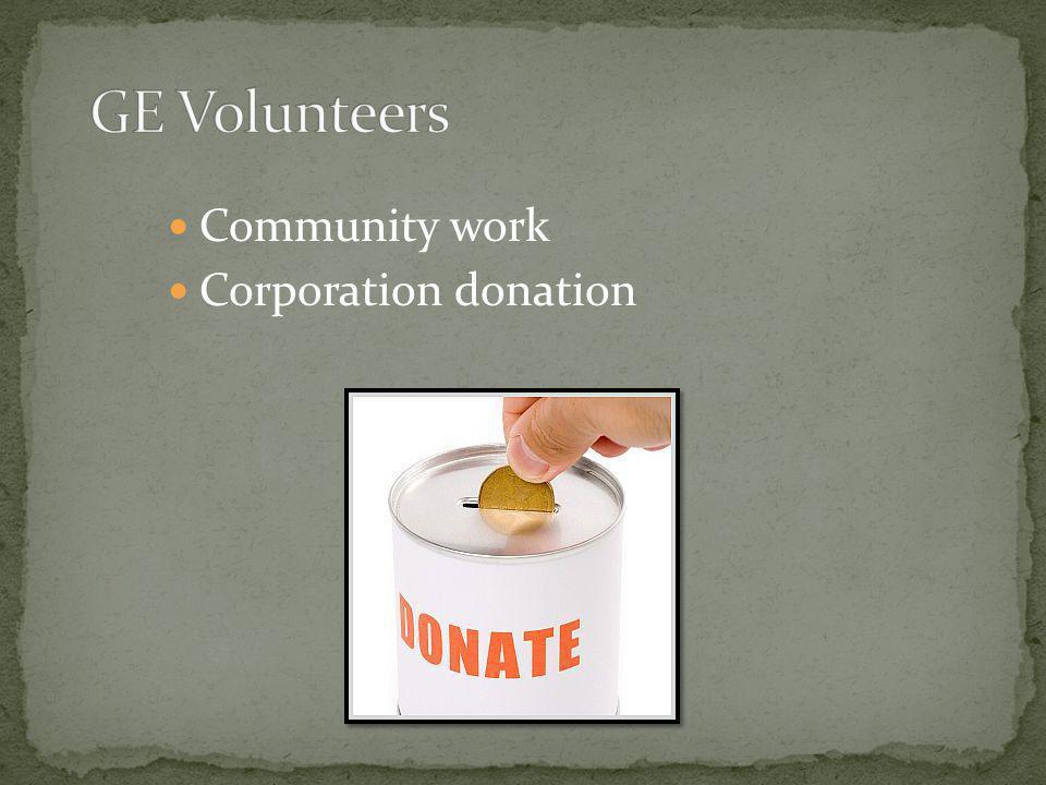 Community work Corporation donation