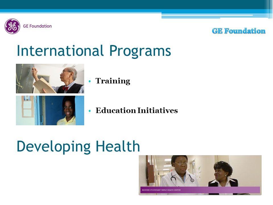 International Programs Training Education Initiatives Developing Health