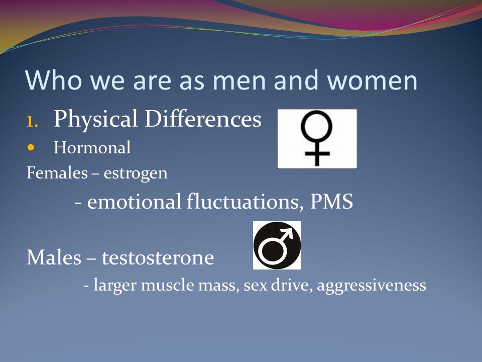 Who we are as men and women 1.