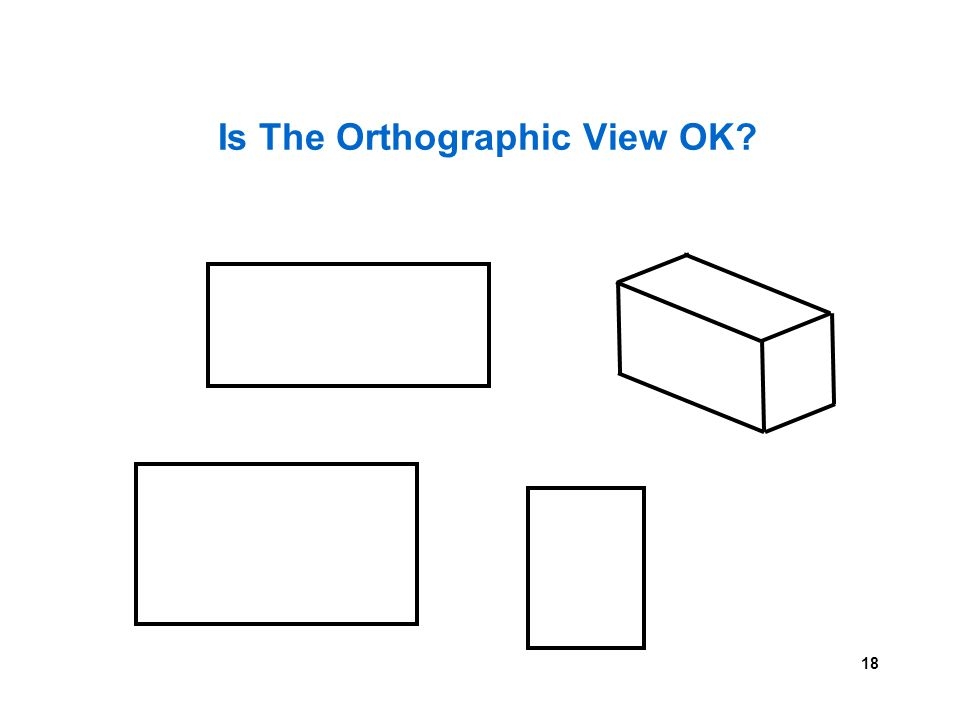 18 Is The Orthographic View OK?