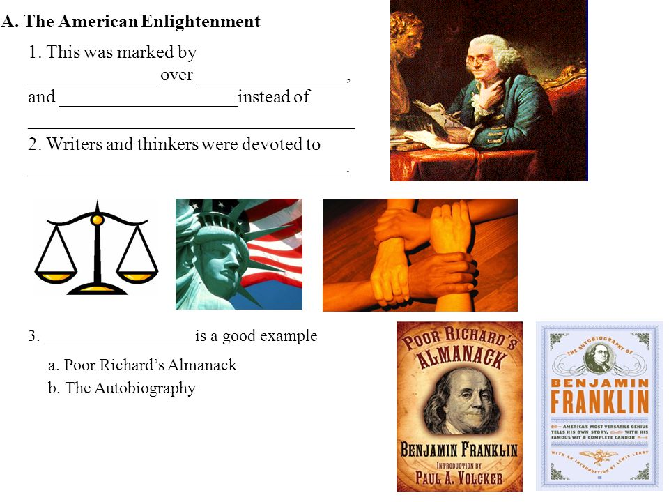 A.The American Enlightenment 1.