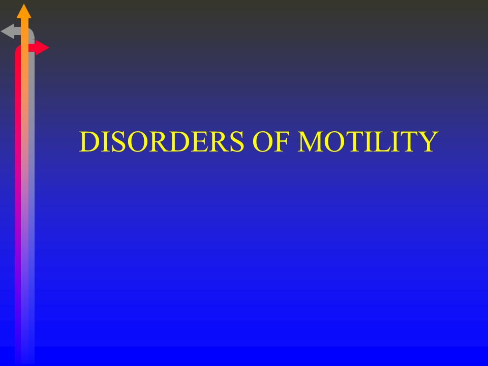 DISORDERS OF MOTILITY