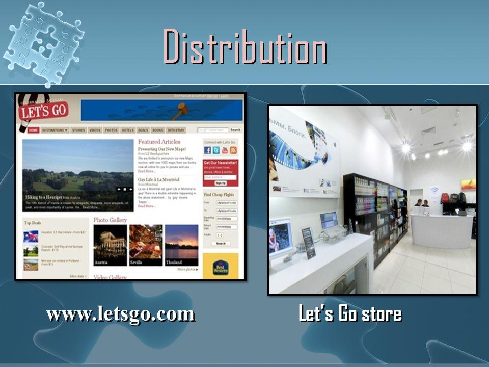 Distribution www.letsgo.com Let's Go store