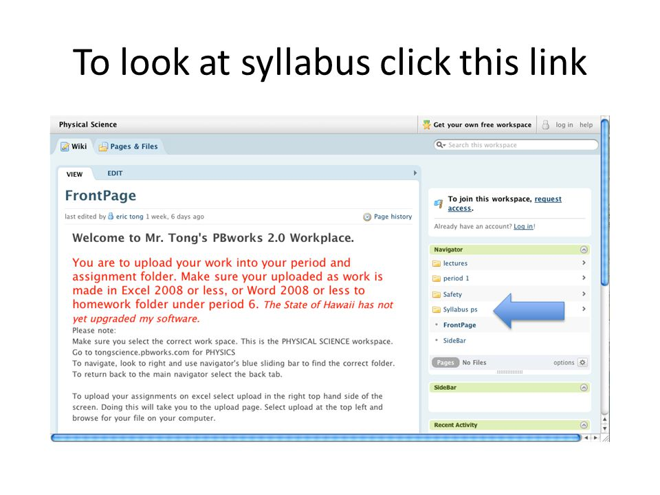 To look at syllabus click this link
