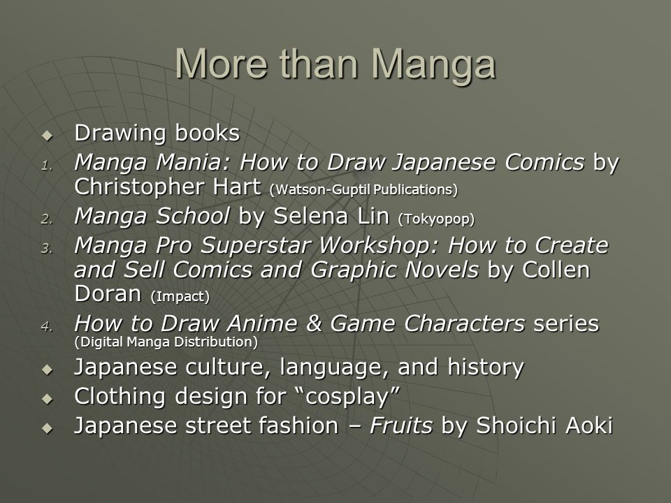 More than Manga  Drawing books 1.