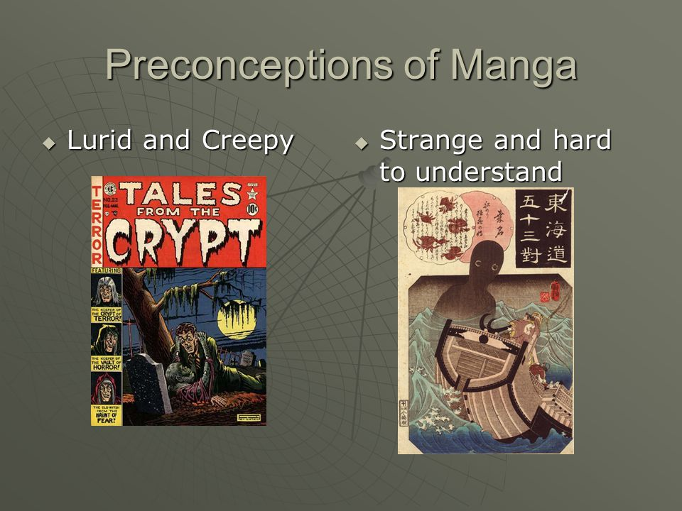 Preconceptions of Manga  Lurid and Creepy  Strange and hard to understand