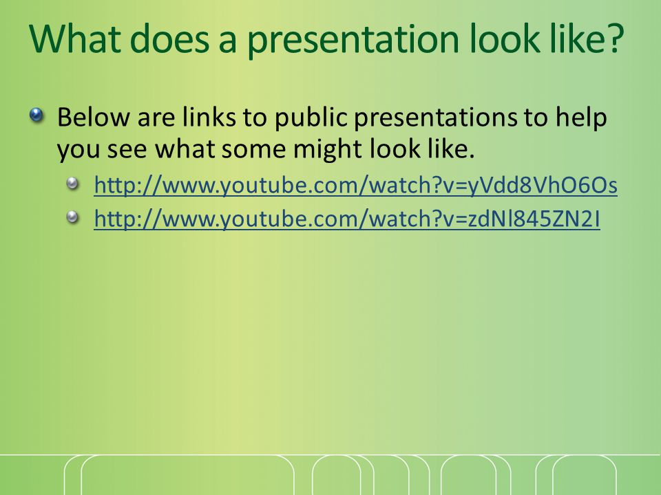 What does a presentation look like.