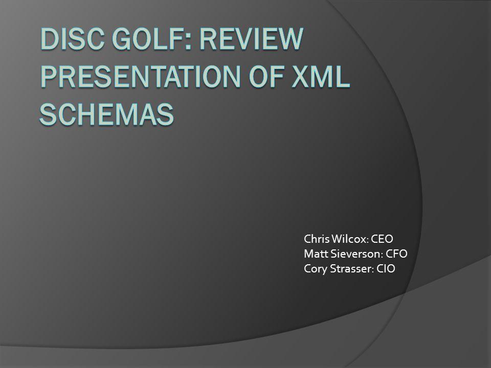 Chris Wilcox: CEO Matt Sieverson: CFO Cory Strasser: CIO