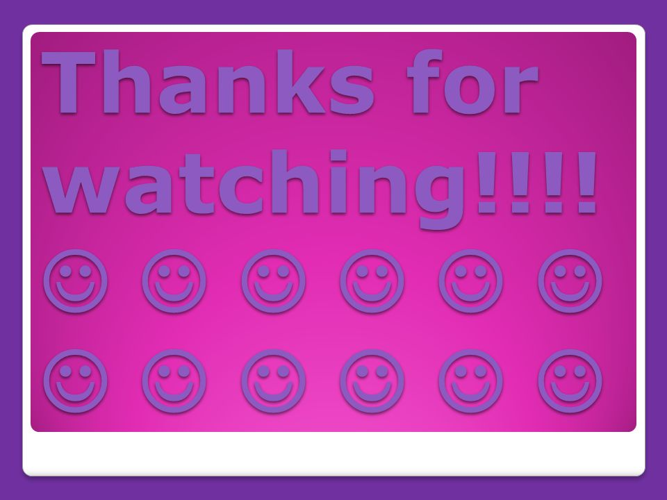 Thanks for watching!!!! Thanks for watching!!!!