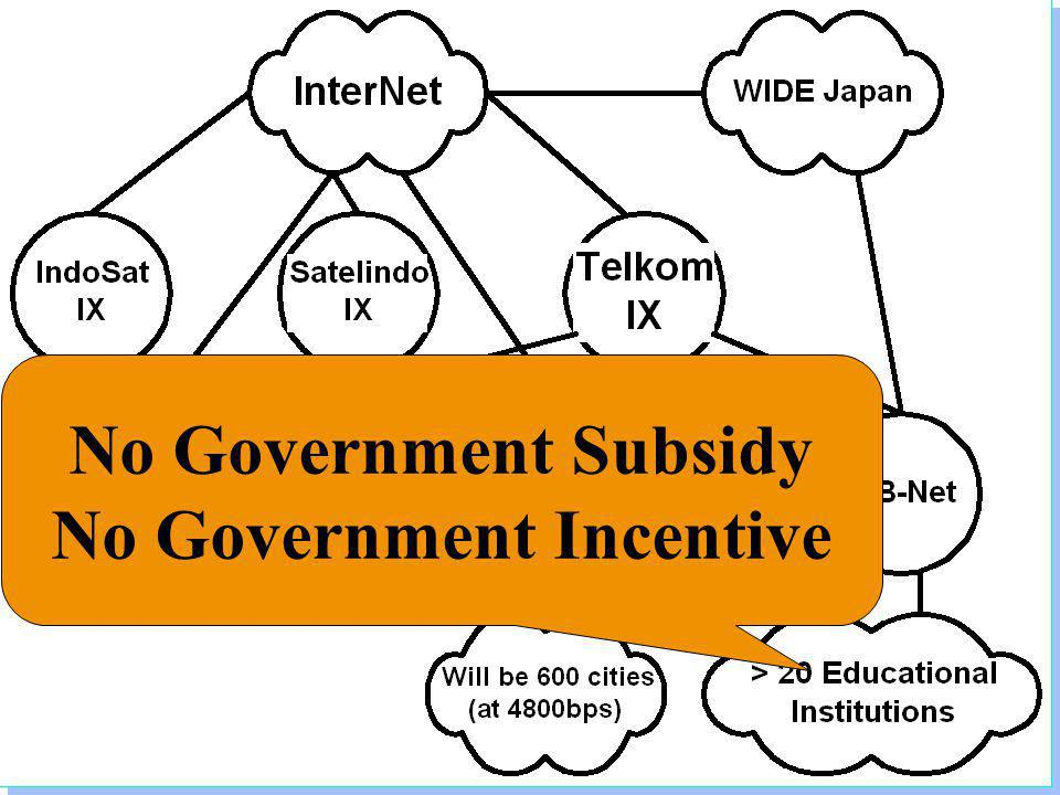 Institute of Technology Bandung No Government Subsidy No Government Incentive