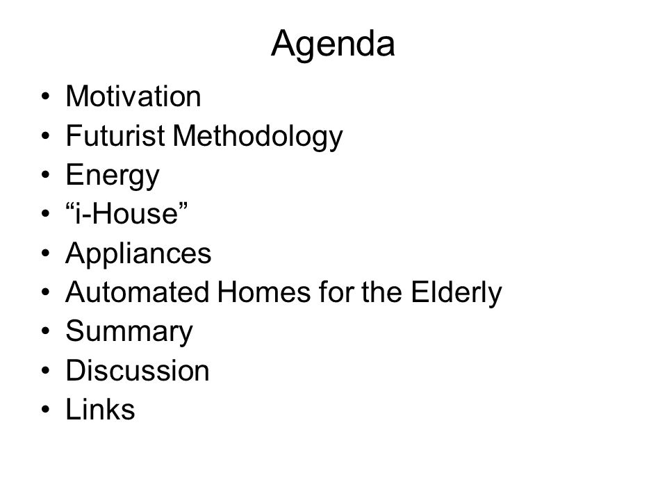 Summary Motivated by elderly parent, I chose to explore latest, near and further future home design and product ideas.