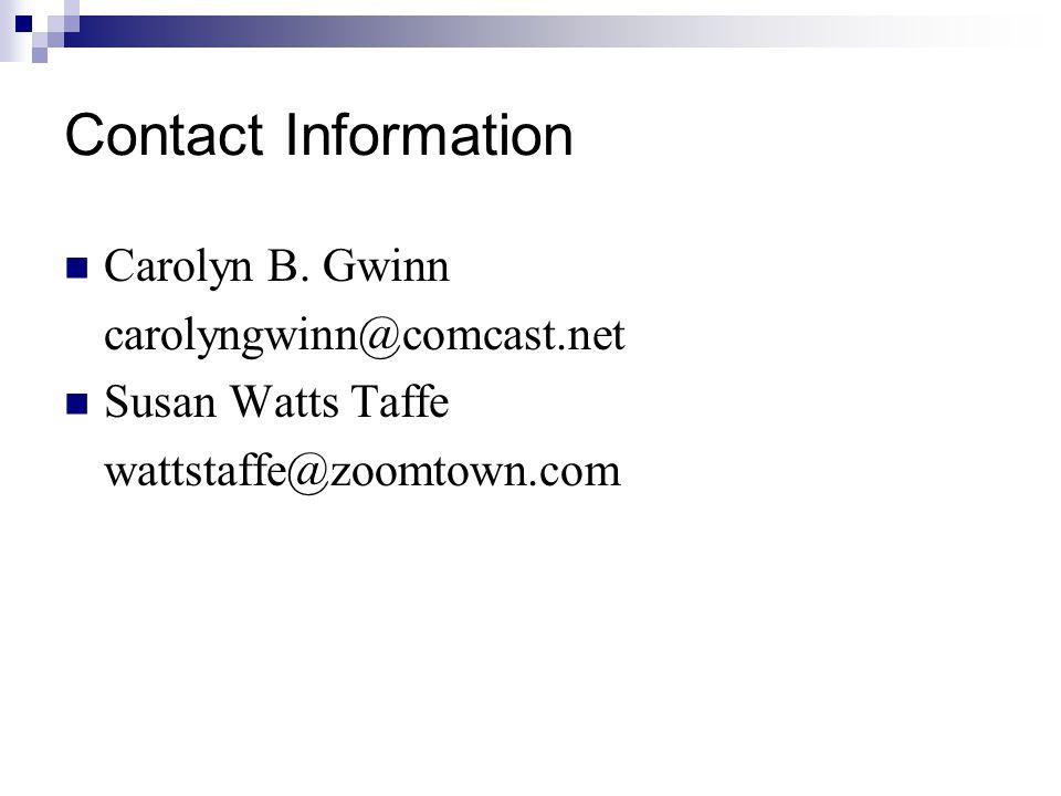 Contact Information Carolyn B.