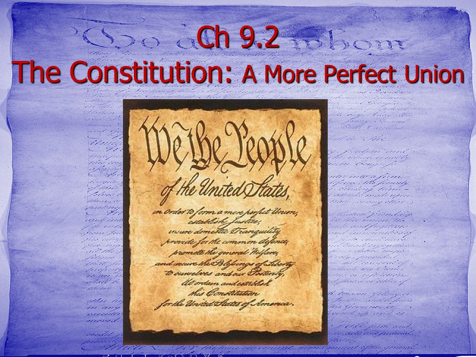 9.2 The Preamble tells the Goals of Government Purpose What- We are going to learn about compromise How- read and explain the parts of the Preamble of