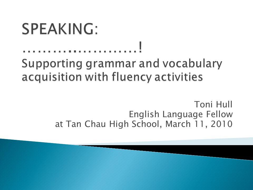 Toni Hull English Language Fellow at Tan Chau High School, March 11, 2010