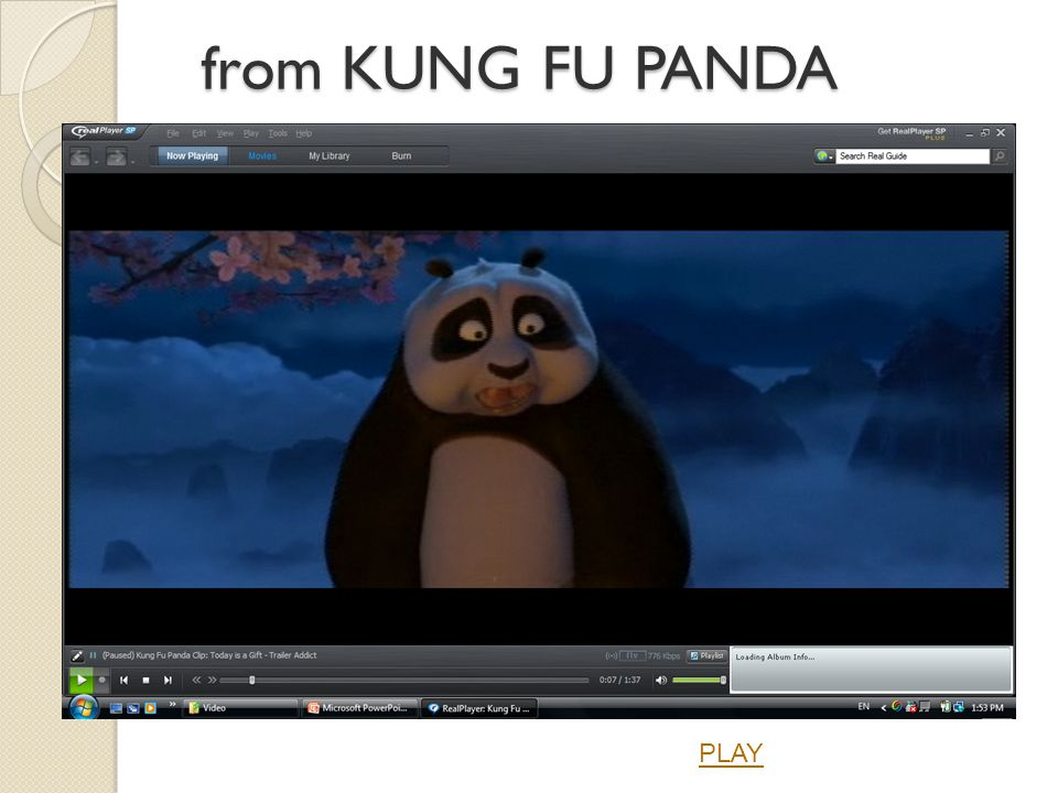 from KUNG FU PANDA PLAY