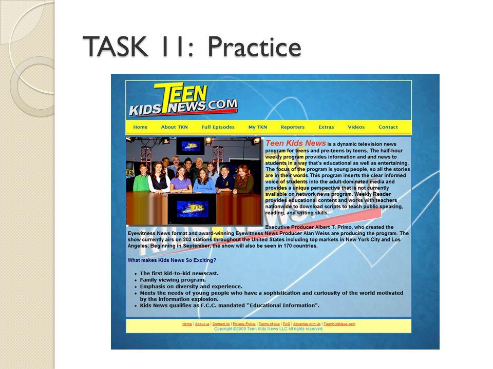 TASK 11: Practice