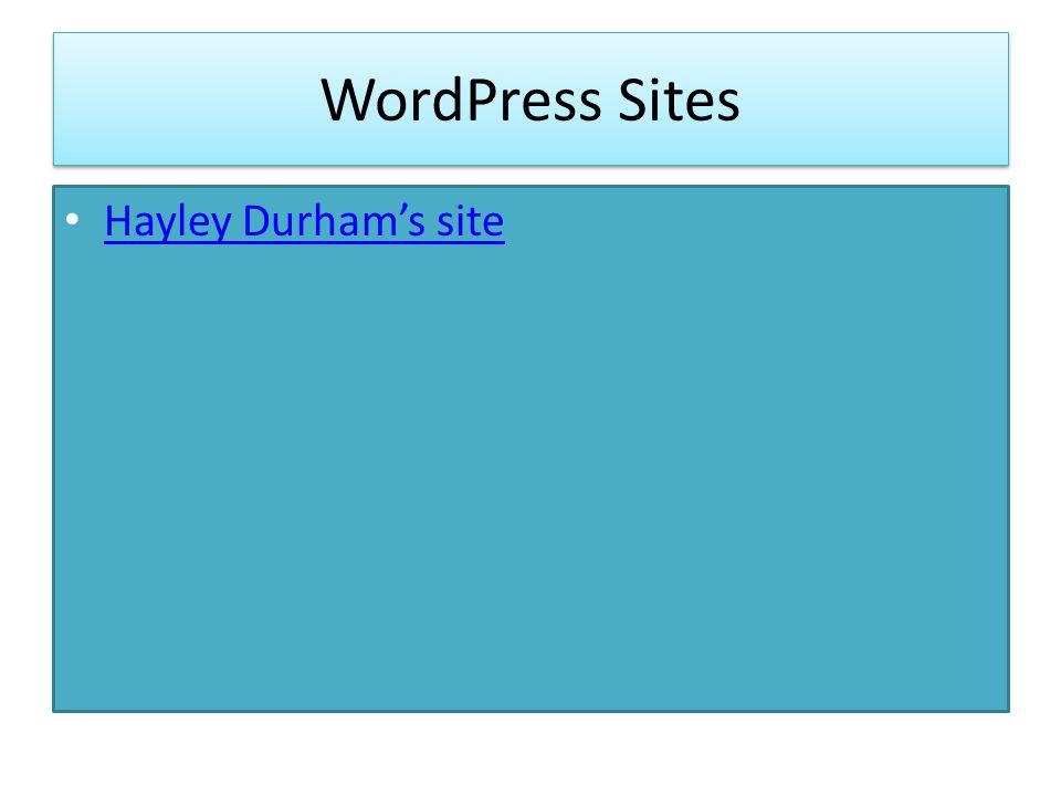 WordPress Sites Hayley Durham's site