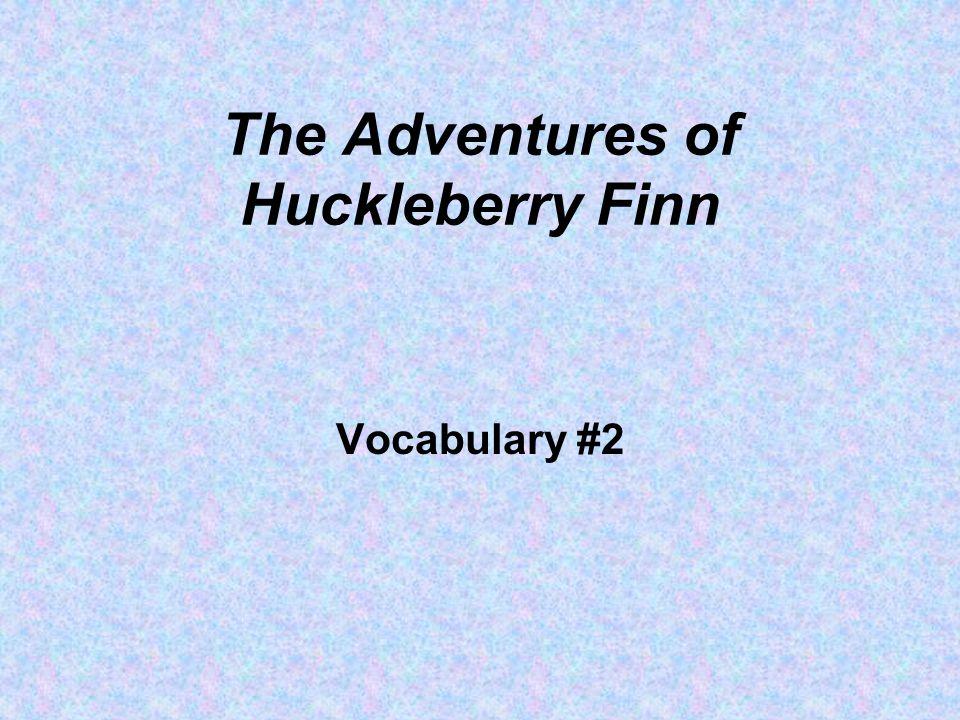 The Adventures of Huckleberry Finn Vocabulary #2