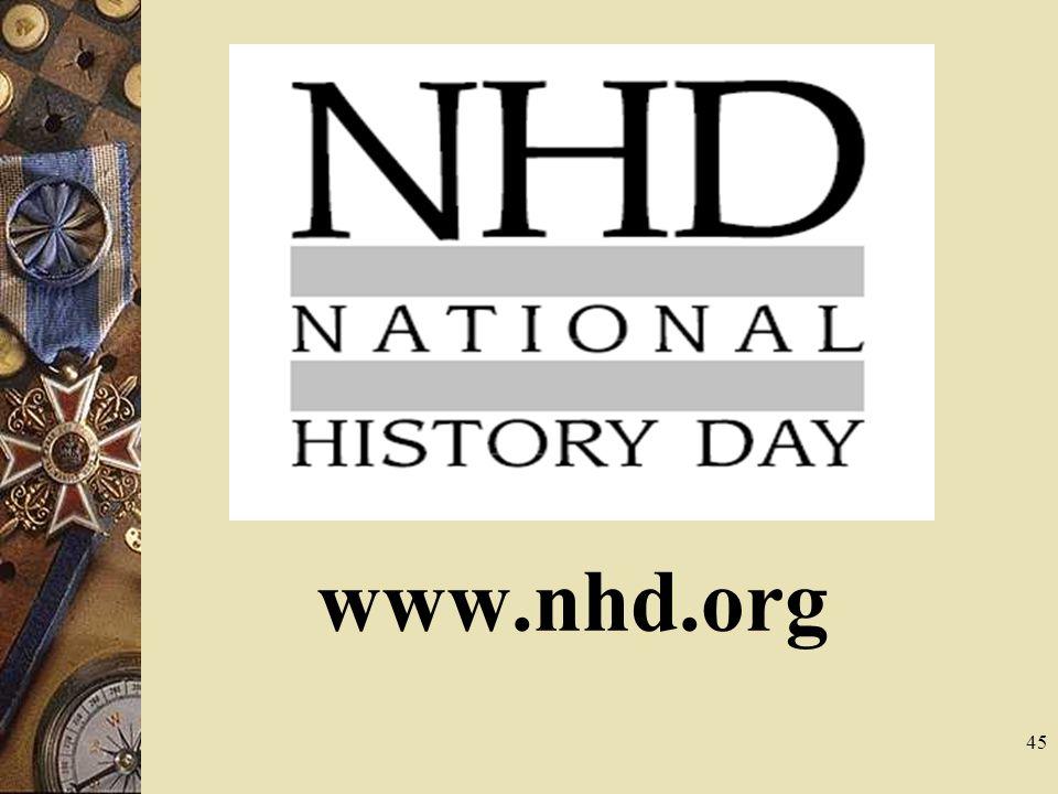 45 www.nhd.org