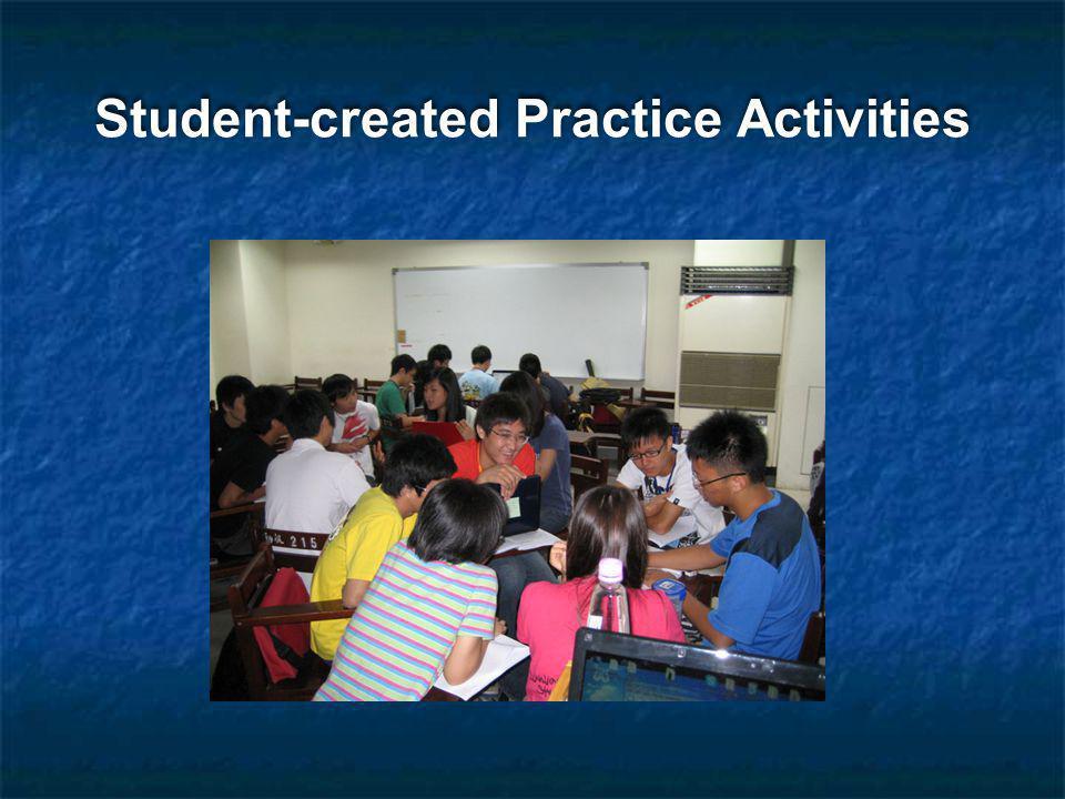 Student-created Practice Activities