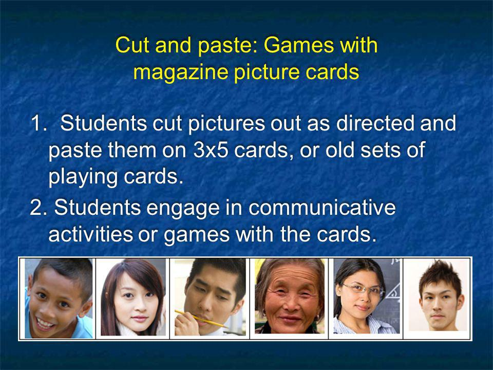 Cut and paste: Games with magazine picture cards 1.