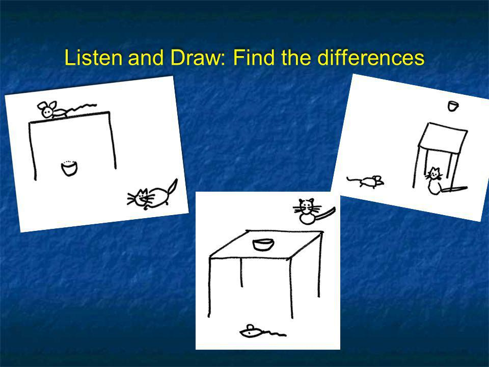 Listen and Draw: Find the differences