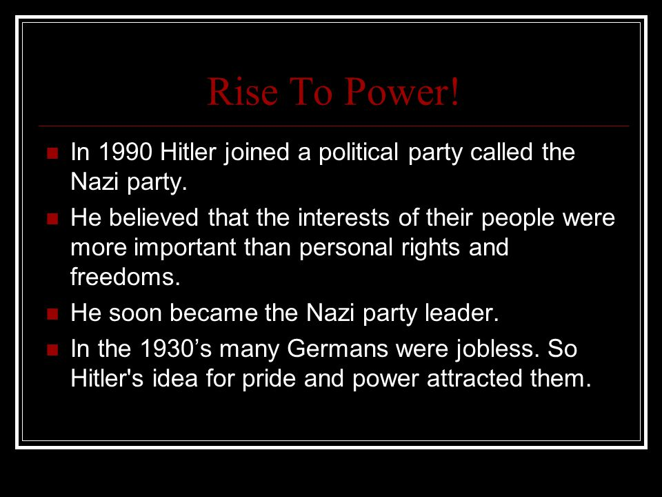 Interesting facts about Hitler.Hitler's great great Grandmother was Jewish.