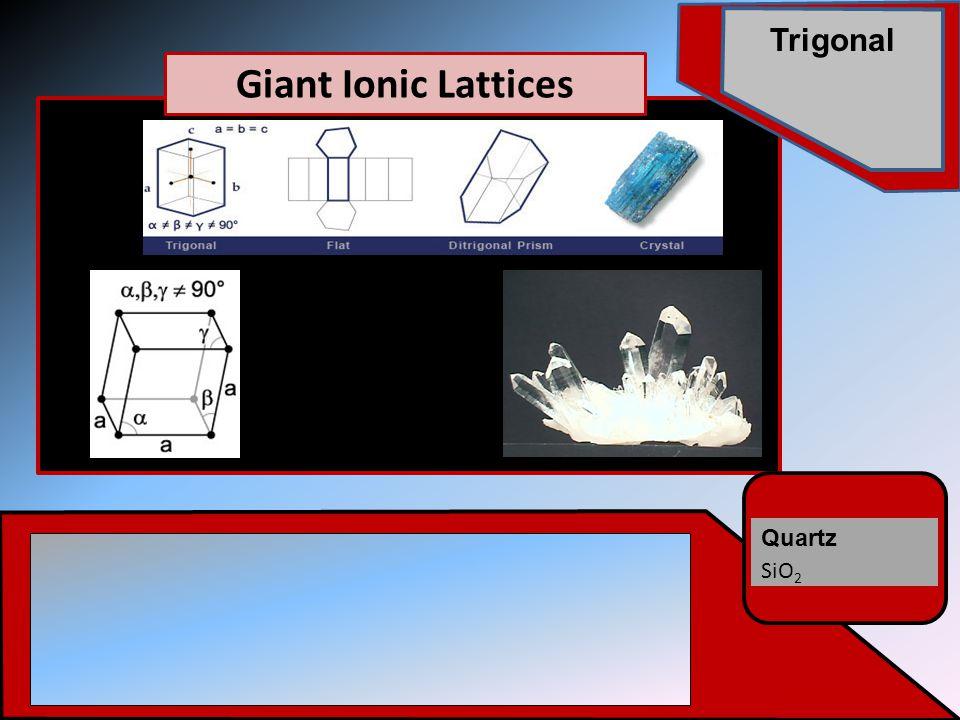 Quartz SiO 2 Trigonal Giant Ionic Lattices