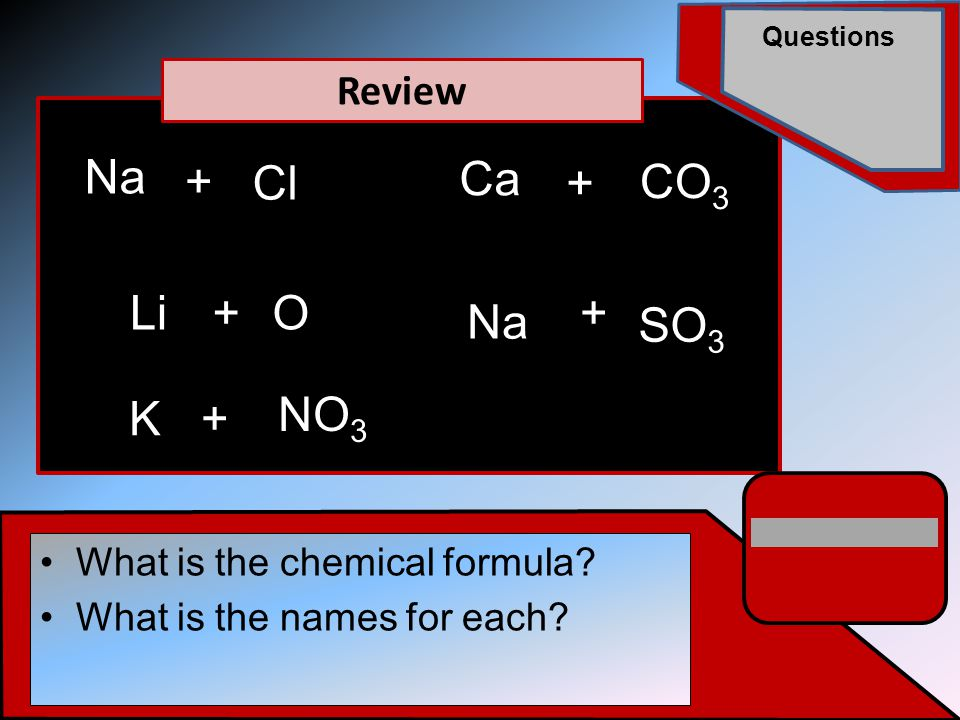 Questions For ionic compounds to form the valance shells of both metal and non-metal must be full!.