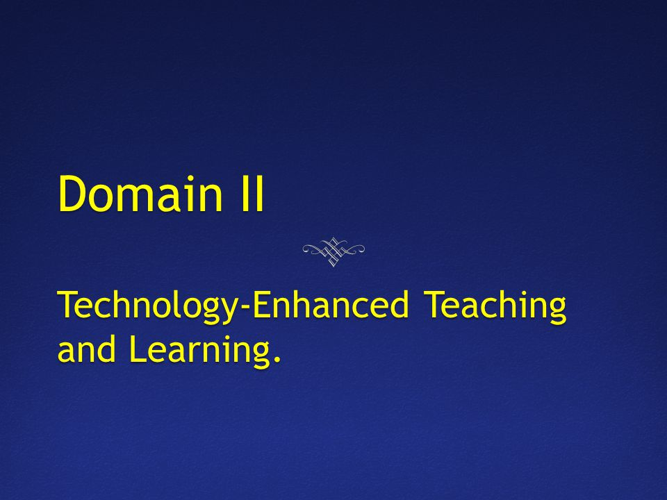 Competency 007 The Master Technology Teacher demonstrates knowledge of instructional design, development, and assessment in a technology enhanced environment.
