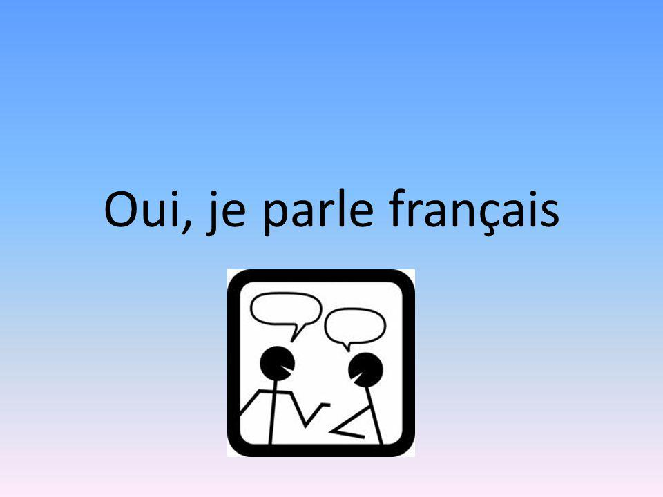 Oui, je parle français