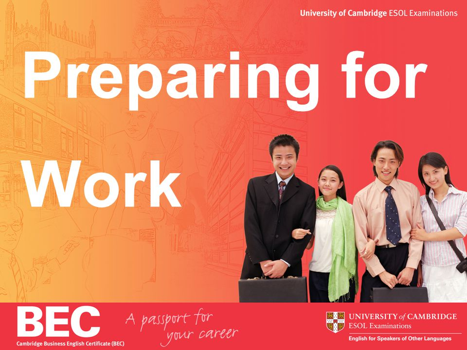 2 Aims 1.Looking for a job 2.CVs (resumes) 3.Interviews 4.English at work 5.How BEC can help