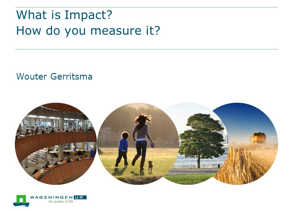 What is Impact How do you measure it Wouter Gerritsma