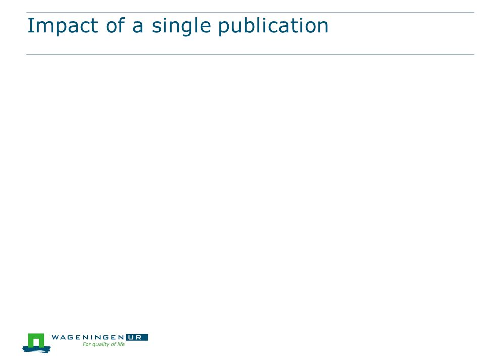 Impact of a single publication