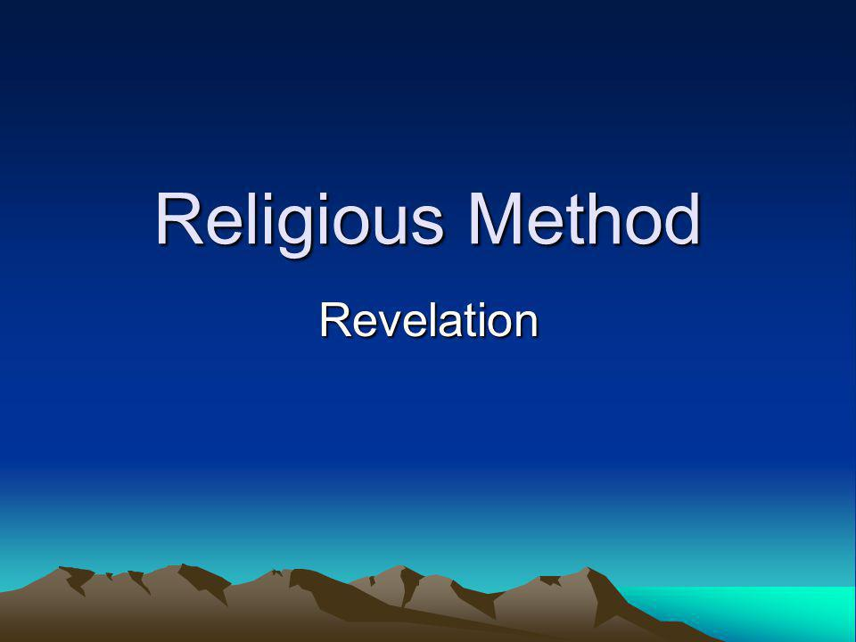 Religious Method Revelation