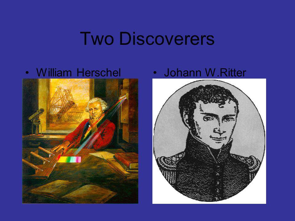 Discovery of UV Rays William Herschel and Johann W.