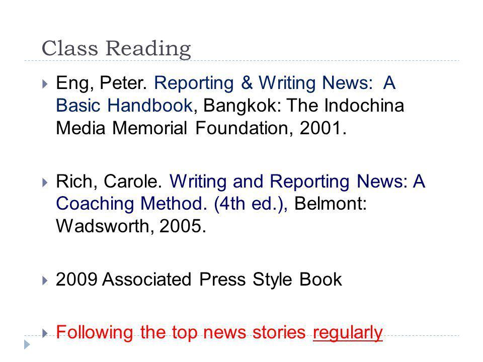 Class Reading  Eng, Peter.